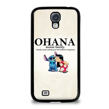 lilo and stitch ohana family disney samsung galaxy s4 case cover  number 1