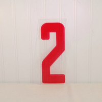 9 Inch Vintage Industrial Marquee Plastic Red 2, Home Decor, Repurposed Art, Industrial Supply, Wedding Ideas, Art Project, Marquee Sign