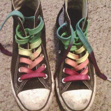 custom hand dyed shoe laces 63 inch length high top converse vans