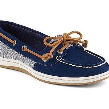 Firefish Cross Hatch Canvas Boat Shoe