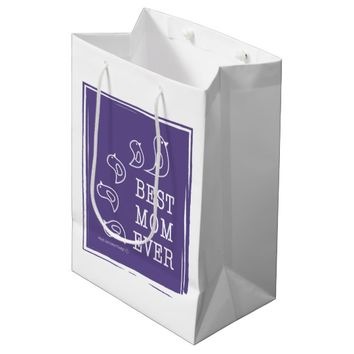 Best Mom Ever - Cute Funny Birds Violet Purple Medium Gift Bag