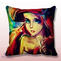 Ariel Little Mermaid Paint Throw Pillow Cover – MPCTeeHouse