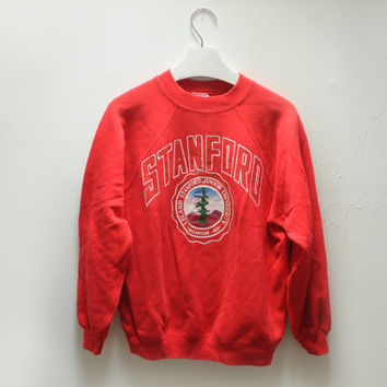 Vintage Cherry Red Stanford University Sweatshirt by Hanes, Size Womens Medium