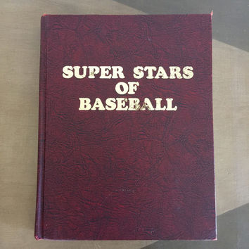 Super Stars of Baseball Book Signed by Author Bob Broeg 1973 Hardback