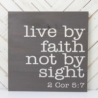 Live By Faith Wall Art | Altar'd State