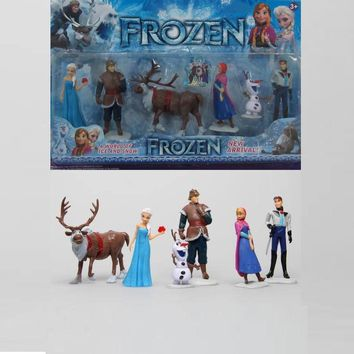Disney Toys For Kids 6 Pcs/Set Cartoon Action Figures Frozen Anime Fashion Figures Juguetes Anime Models Tq0127