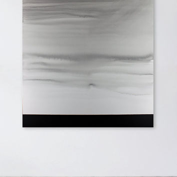 Black and White Painting, Large Contemporary Landscape, Minimalist Art