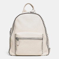 RIVETS SMALL BACKPACK IN PEBBLE LEATHER