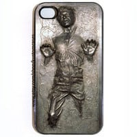 SALE  iPhone 4 4s Case, Custom Han Solo Frozen In Carbonite Star Wars Black or White Case