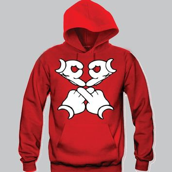 OVOXO Drake Mickey Hands Unisex Hooded Sweatshirt Funny and Music