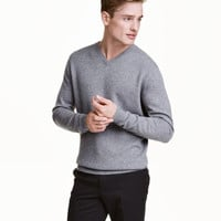 V-neck Cashmere Sweater - from H&M