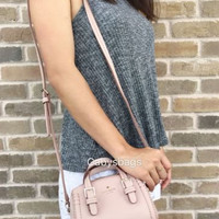 NWT Kate Spade Orchard Street Charlie Mini Crossbody Pink Pebble Leather