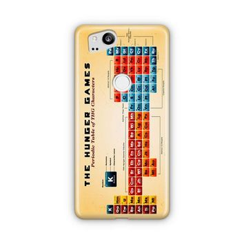 A Periodic Table For The Hunger Games Google Pixel 3 XL Case | Casefantasy