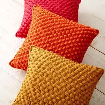 Bobble Stitch Decorative Throw Pillows