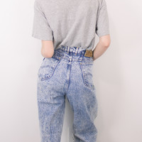 Vintage (MEDIUM) Acid Wash Lee High Waisted Denim Jeans