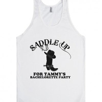 Saddle Up Country Custom Bachelorette Party Tank Top