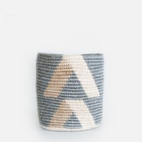 Hillside Waste Basket - Grey