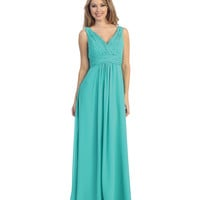 2014 Prom Dresses - Jade Ruched Chiffon Gown