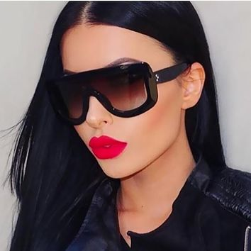 Women Trendy Acrylic Frame Square Sunglasses With 100% UV 400 Protection
