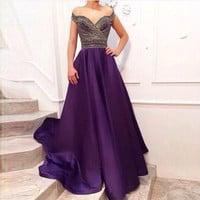 Women Pretty Sexy V-neck Dress Summer 2015 Party Long Maxi Lady = 1901137668