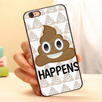 Poop Emoji Quote Hard Skin Mobile Phone Cases Accessories For iPhone