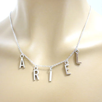 Personalized, Name, Necklace, Customized, Name, Necklace, Initial, Letter, Necklace, Silver, Letter, Personalized, Necklace, Gift, Jewelry