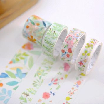 4 pcs/set Spring Flower washi tape DIY decorative scrapbook masking tape office adhesive tape stationery school supplies