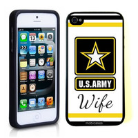 US Army Wife Star iPhone 5 Case - For iPhone 5/5G - Designer TPU Case Verizon AT&T Sprint
