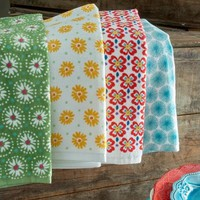 The Pioneer Woman Flea Market Kitchen Towel Set, 4pk, Print - Walmart.com