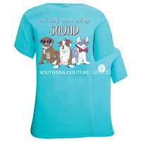 Southern Couture Nobody Mess With My Squad Comfort Colors T-Shirt