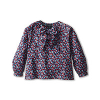 Oscar de la Renta Childrenswear Colares Cotton Bow Blouse (Toddler/Little Kids/Big Kids)