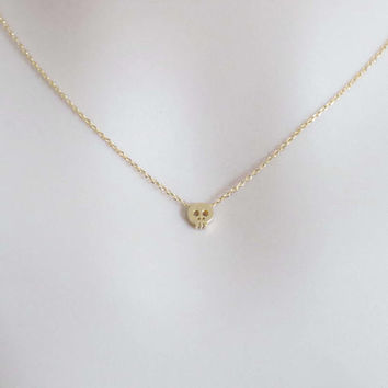 Tiny, Cute, Skull, Gold, Silver, Necklace, Lovely, Skeleton, Necklace, Lover, Friends, Mom, Sister, Gift