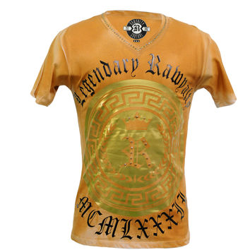 Rawyalty Couture Men's Rust Couture Studded T-Shirt