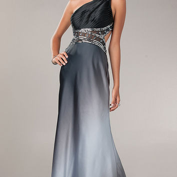 One Shoulder Evening Gown by Betsy and Adam