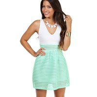 Sale- Mint Walking On Sunshine Skater Dress