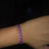 VINTAGE 90s choker bracelet //jelly purple