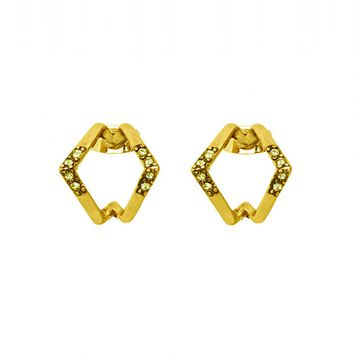 House of Harlow 1960 Jewelry Sound Wave Studs - Gold