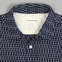 universal works - weekend shirt navy ikat pattern