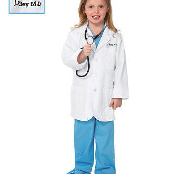 personalized jr. lab coat kids costume