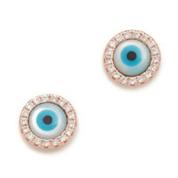 Lilan Pave Stud Earrings