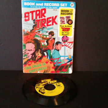 Vintage Star Trek The Crier In Emptiness Book and Record Set Power Records 45 RPM 1975