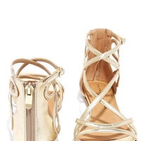 Chinese Laundry Penny Gold Gladiator Sandals