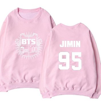 Bangtan Boys Sweater BTS Sweatshirt Suga Rap-Monster Jacket Pullover