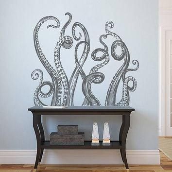 kik1225 Wall Decal Sticker octopus tentacles bathroom living room