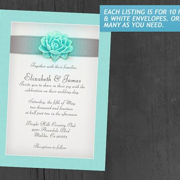 Aqua Wedding Invitations | Invites | Invitation Cards