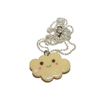 Happy Cloud Necklace - Pastel Kawaii
