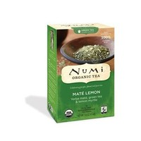 NUMI TEA GRN TEA,OG2,MATE LEMON, 18 BAG