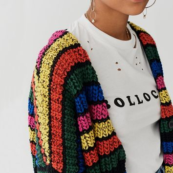 Lazy Oaf Stripy Cardigan