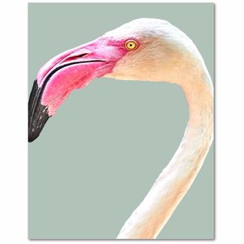 Flamingo Canvas Art Print, Premium Canvas Gallery Wrap, Canvas Wall Art