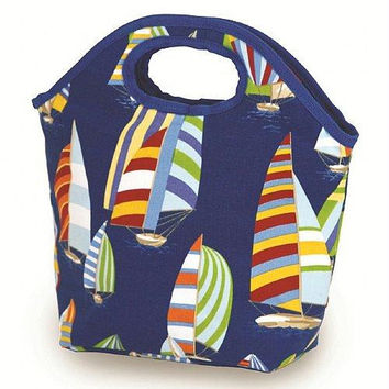 2 Lunch Bags - Sailboats Print